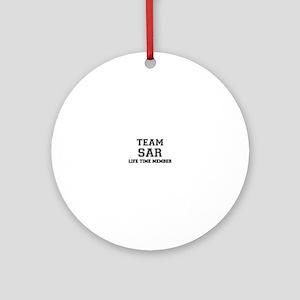 Team SAR, life time member Round Ornament