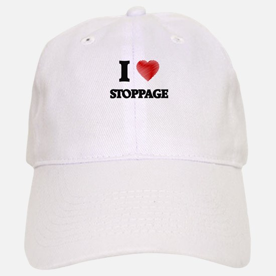 I love Stoppage Baseball Baseball Cap