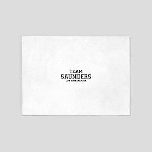 Team SAUNDERS, life time member 5'x7'Area Rug