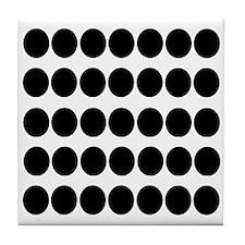 Black Dots Pattern Tile Coaster
