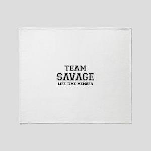 Team SAVAGE, life time member Throw Blanket