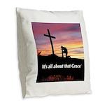 Burlap Throw Pillow - Grace Sunset Prayer