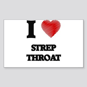 I love Strep Throat Sticker