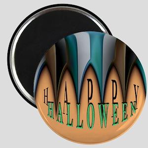 Orange Striped Halloween Magnet
