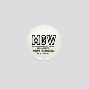 AIRPORT CODES - MGW - MORGANTOWN, WEST Mini Button
