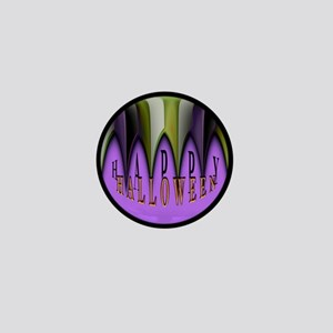 Purple Halloween Teeth Mini Button