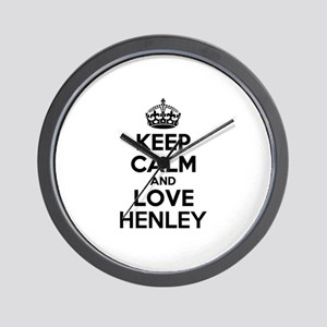Keep Calm and Love HENLEY Wall Clock