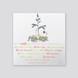 12 Days Of Christmas (whitebg) Sticker