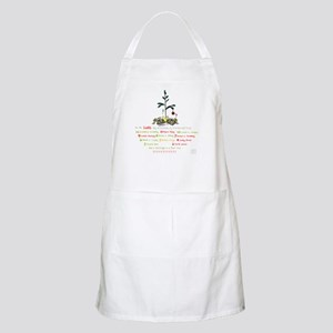 12 Days Of Christmas (whitebg) Light Apron