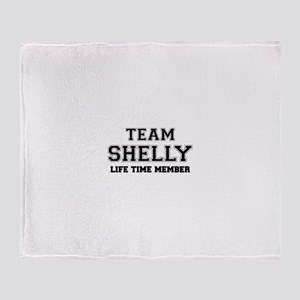 Team SHELLY, life time member Throw Blanket