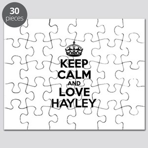 Keep Calm and Love HAYLEY Puzzle