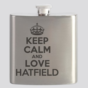 Keep Calm and Love HATFIELD Flask