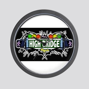 high bridge (Black) Wall Clock
