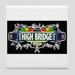 high bridge (Black) Tile Coaster