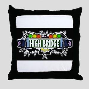 high bridge (Black) Throw Pillow