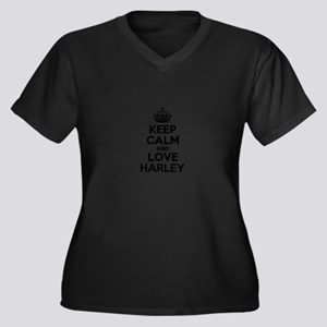 Keep Calm and Love HARLEY Plus Size T-Shirt
