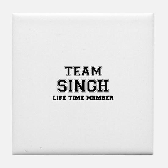 Team SINGH, life time member Tile Coaster