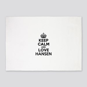 Keep Calm and Love HANSEN 5'x7'Area Rug