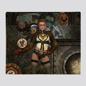 Steampunk, steampunk women with clocks and gears T
