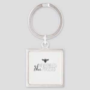 Nevertheless She Persisted Bee Keychains
