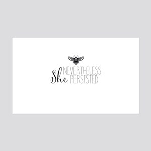 Nevertheless She Persisted Bee Wall Decal