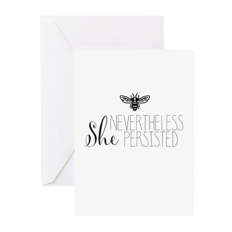 Nevertheless She Persisted Bee Greeting Cards