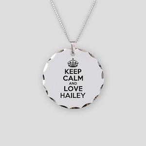 Keep Calm and Love HAILEY Necklace Circle Charm