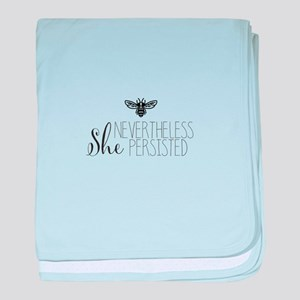 Nevertheless She Persisted Bee baby blanket