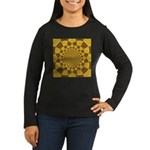 Red & Gold Dance Women's Long Sleeve Dark T-Shirt