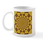 Red & Gold Dance Fractal Mug