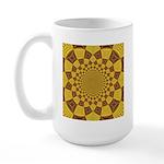 Red & Gold Dance Fractal Large Mug