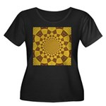 Red & Go Women's Plus Size Scoop Neck Dark T-Shirt