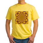 Red & Gold Dance Fractal Yellow T-Shirt