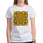 Red & Gold Dance Fractal Women's T-Shirt