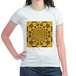 Red & Gold Dance Fractal Jr. Ringer T-Shirt