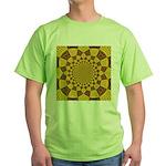 Red & Gold Dance Fractal Green T-Shirt