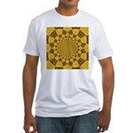 Red & Gold Dance Fractal Fitted T-Shirt