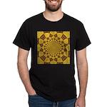 Red & Gold Dance Fractal Dark T-Shirt