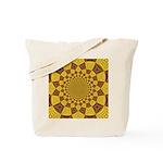 Red & Gold Dance Fractal Tote Bag