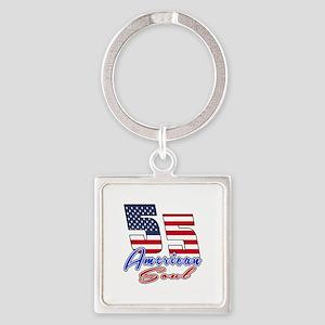 55 American Soul Birthday Designs Square Keychain