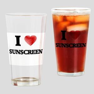 I love Sunscreen Drinking Glass