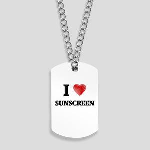 I love Sunscreen Dog Tags