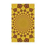 Red & Gold Dance Fractal Sticker (Rectangle)
