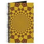 Red & Gold Dance Fractal Journal