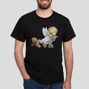 Cute Christmas Baby Angel Skating T-Shirt