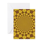 Red & Gold Dance Fractal Greeting Cards (Pk of 10)