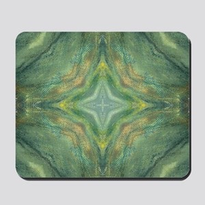 Hypnotic Green Cross Mousepad