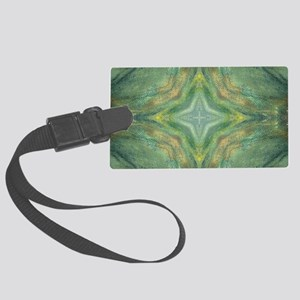 Hypnotic Green Cross Large Luggage Tag