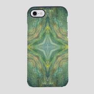 Hypnotic Green Cross iPhone 8/7 Tough Case