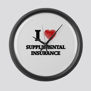 I love Supplemental Insurance Large Wall Clock
